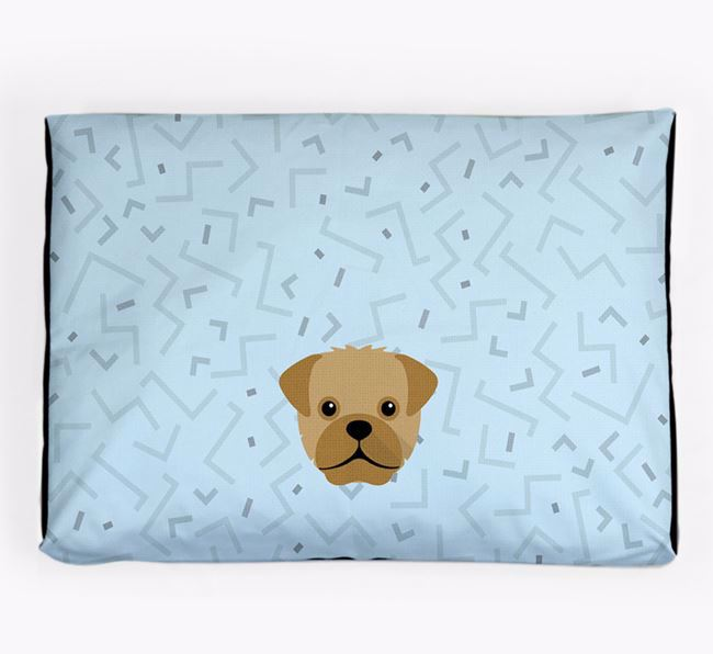 Personalised Minimal Dog Bed with Rescue Dog Icon