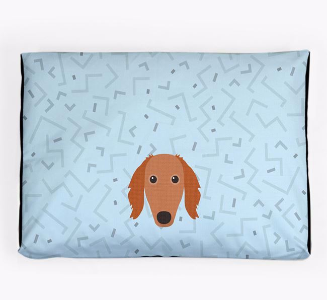 Personalised Minimal Dog Bed with Saluki Icon