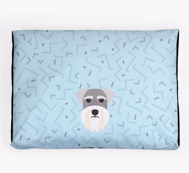 Personalised Minimal Dog Bed with Schnauzer Icon