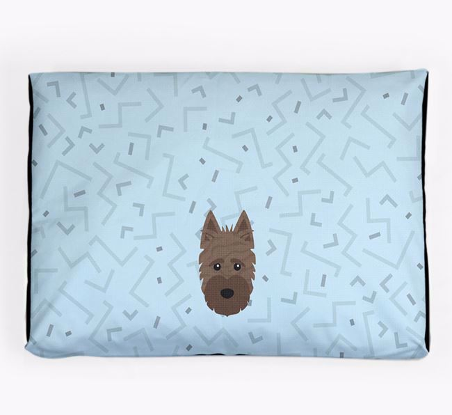 Personalised Minimal Dog Bed with Scottish Terrier Icon