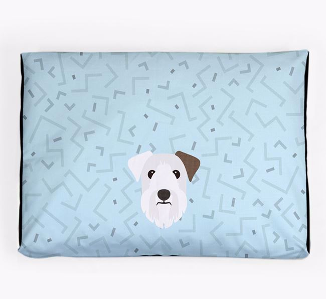 Personalised Minimal Dog Bed with Sealyham Terrier Icon