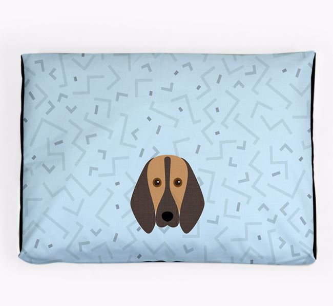 Personalised Minimal Dog Bed with Segugio Italiano Icon