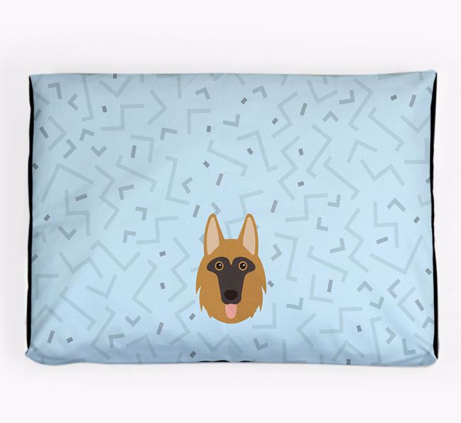 Personalised Minimal Dog Bed with Shollie Icon
