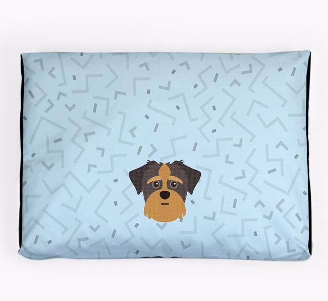 Personalised Minimal Dog Bed with Shorkie Icon