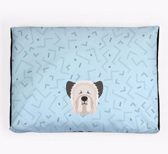 Personalised Minimal Dog Bed with Skye Terrier Icon