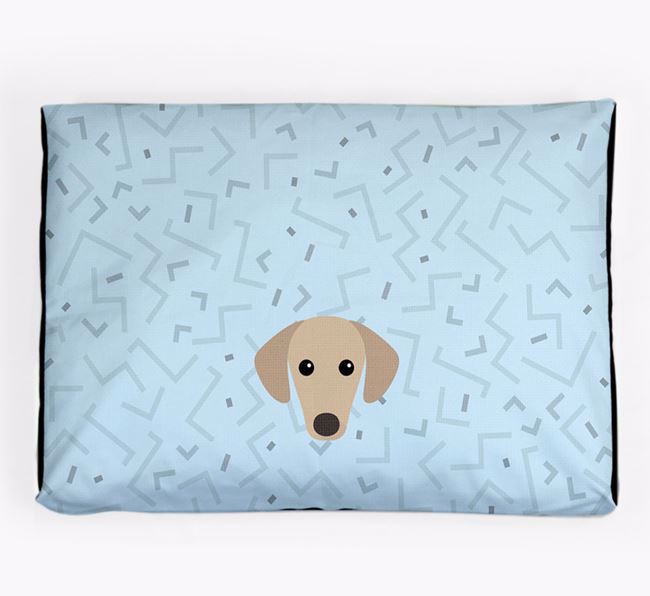 Personalised Minimal Dog Bed with Sloughi Icon