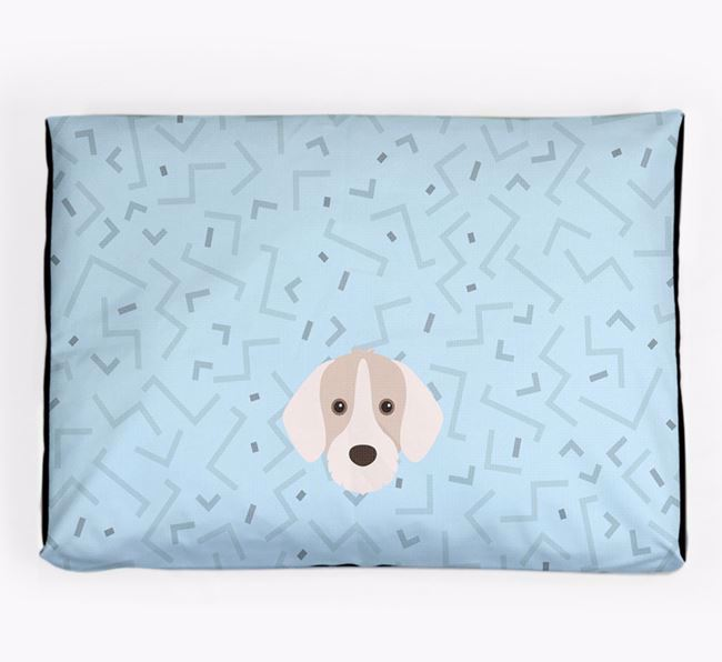 Personalised Minimal Dog Bed with Slovakian Rough Haired Pointer Icon