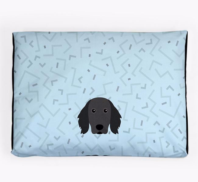 Personalised Minimal Dog Bed with Small Munsterlander Icon