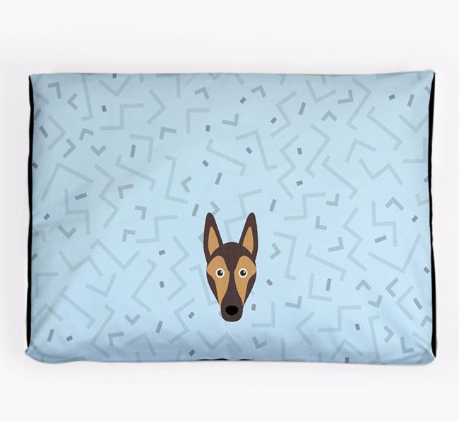Personalised Minimal Dog Bed with Smooth Collie Icon
