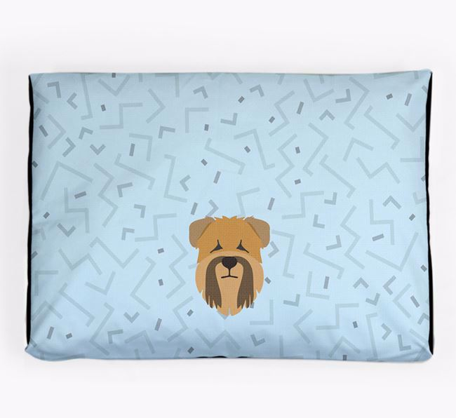 Personalised Minimal Dog Bed with Soft Coated Wheaten Terrier Icon