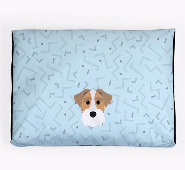 Personalised Minimal Dog Bed with Sporting Lucas Terrier Icon