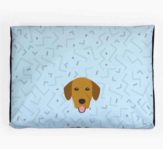Personalised Minimal Dog Bed with Springador Icon