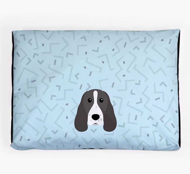 Personalised Minimal Dog Bed with Springer Spaniel Icon