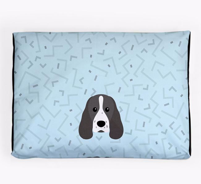 Personalised Minimal Dog Bed with Sprocker Icon
