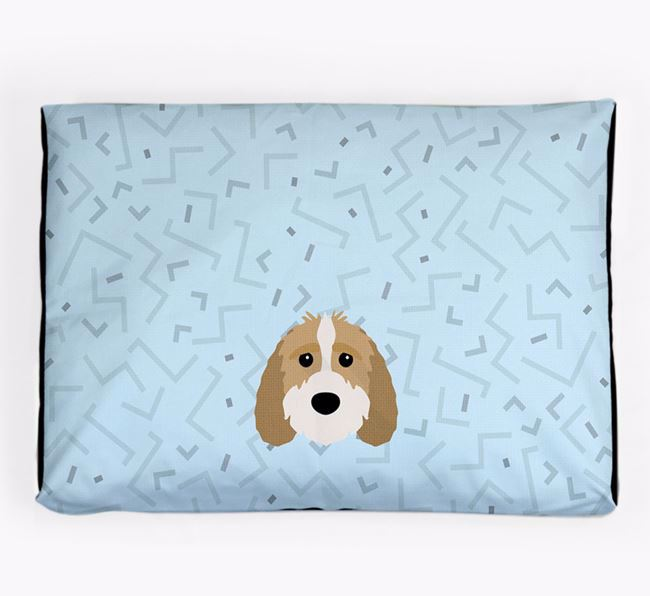 Personalised Minimal Dog Bed with Sproodle Icon