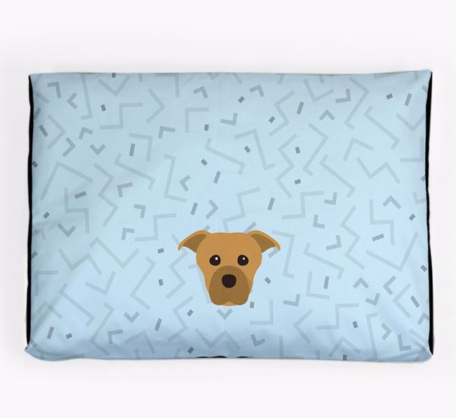 Personalised Minimal Dog Bed with Staffordshire Bull Terrier Icon