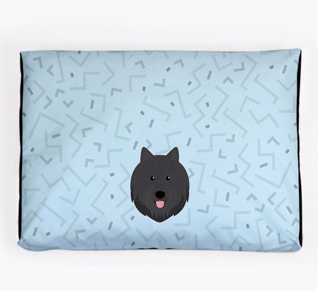 Personalised Minimal Dog Bed with Swedish Lapphund Icon