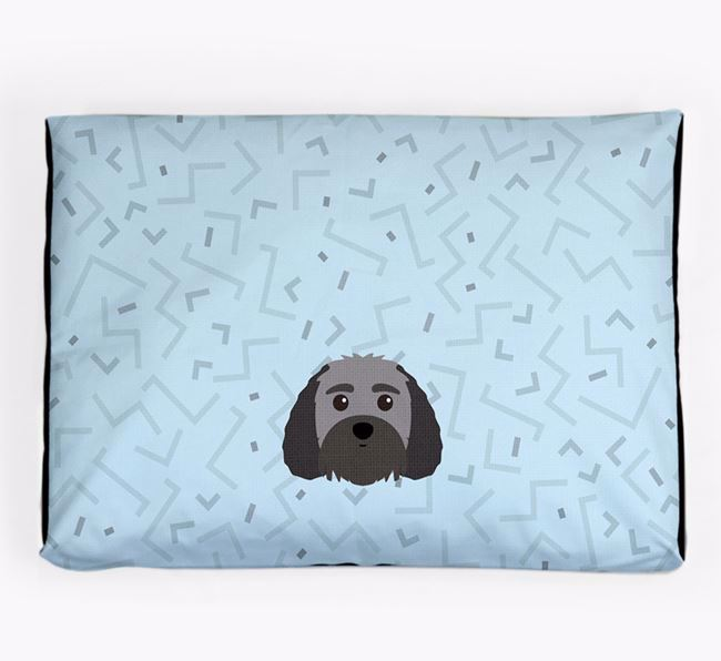 Personalised Minimal Dog Bed with Terri-Poo Icon