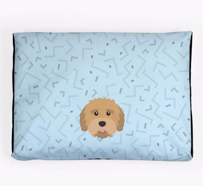 Personalised Minimal Dog Bed with Tibetan Terrier Icon
