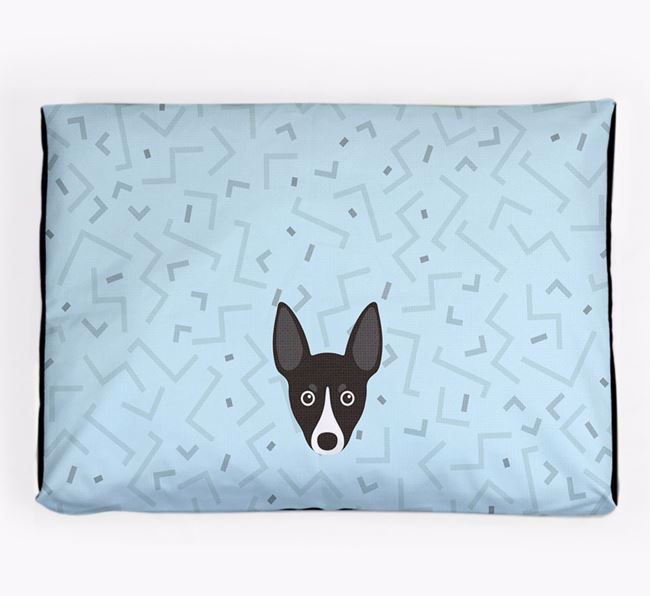 Personalised Minimal Dog Bed with Toy Fox Terrier Icon