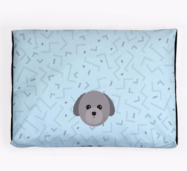 Personalised Minimal Dog Bed with Toy Poodle Icon