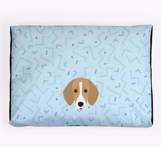 Personalised Minimal Dog Bed with Trailhound Icon