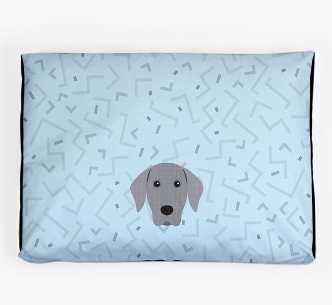 Personalised Minimal Dog Bed with Weimaraner Icon