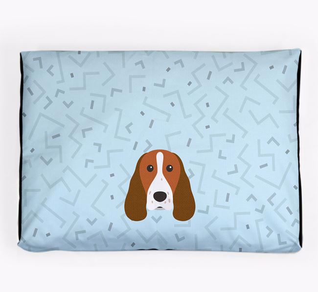 Personalised Minimal Dog Bed with Welsh Springer Spaniel Icon