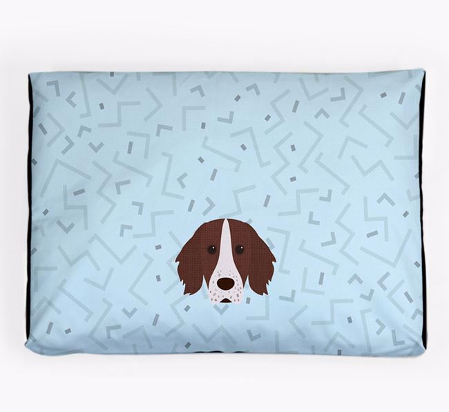 Personalised Minimal Dog Bed with Working Cocker Spaniel Icon