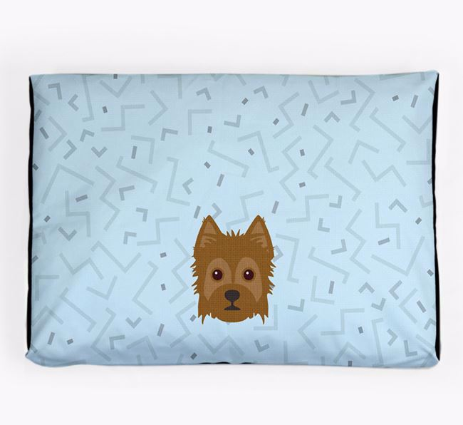 Personalised Minimal Dog Bed with Yorkie Russell Icon