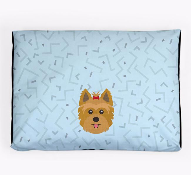Personalised Minimal Dog Bed with Yorkshire Terrier Icon