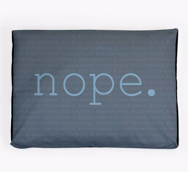 Personalised 'Nope' Dog Bed for your Foxhound