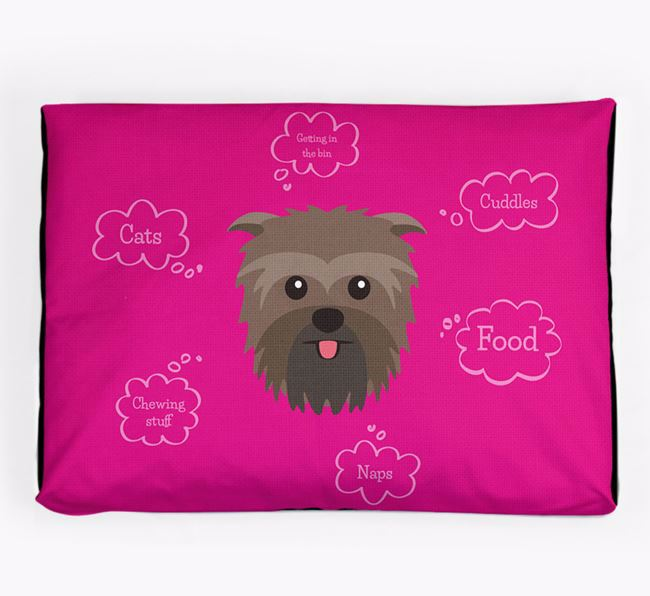 Personalised 'Sweet Dreams' Dog Bed for your Affenpinscher