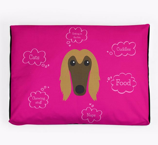 Personalised 'Sweet Dreams' Dog Bed for your Afghan Hound