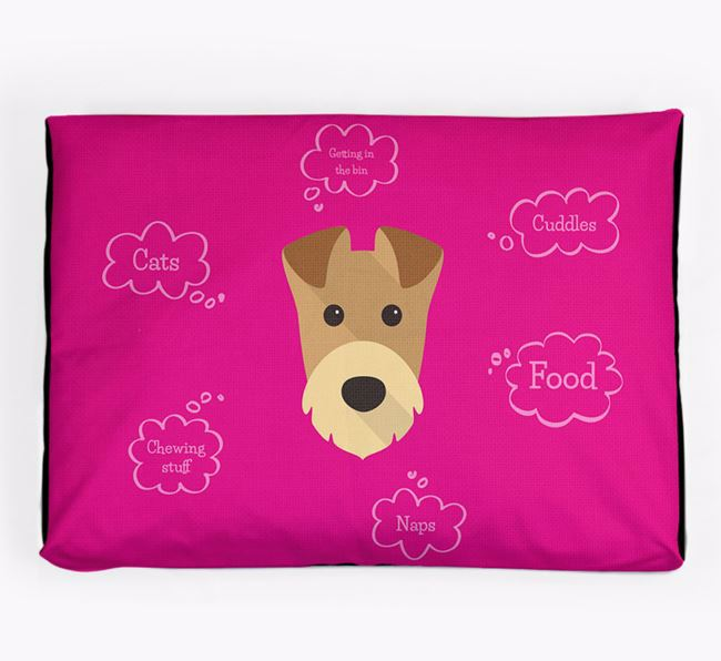Personalised 'Sweet Dreams' Dog Bed for your Airedale Terrier