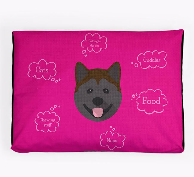 Personalised 'Sweet Dreams' Dog Bed for your Akita
