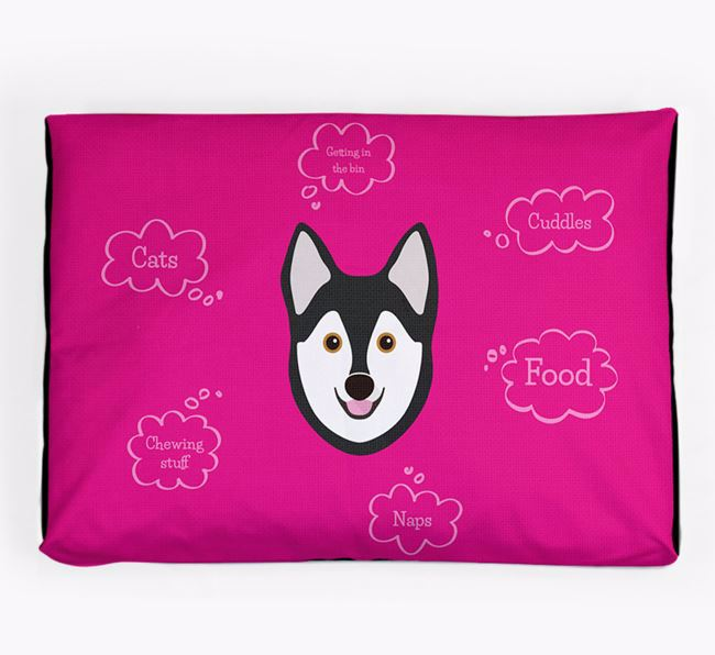 Personalised 'Sweet Dreams' Dog Bed for your Alaskan Klee Kai