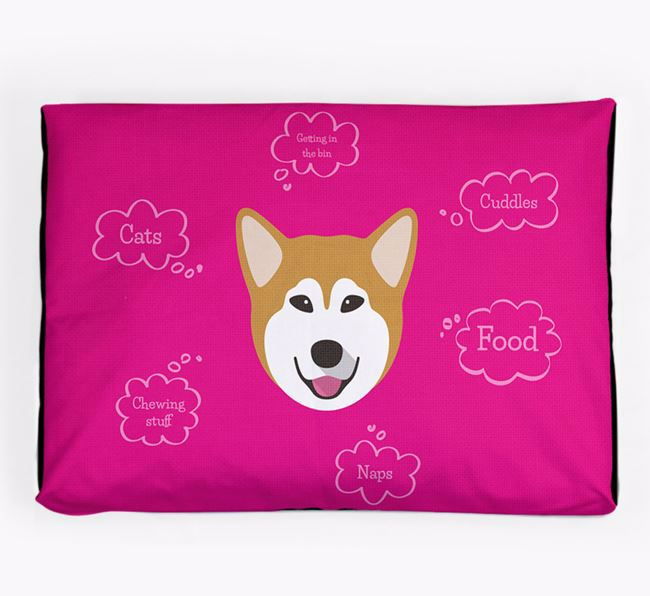 Personalised 'Sweet Dreams' Dog Bed for your Alaskan Malamute