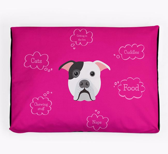 Personalised 'Sweet Dreams' Dog Bed for your American Bulldog