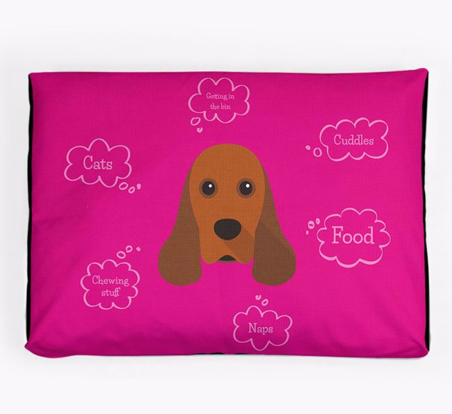 Personalised 'Sweet Dreams' Dog Bed for your American Cocker Spaniel