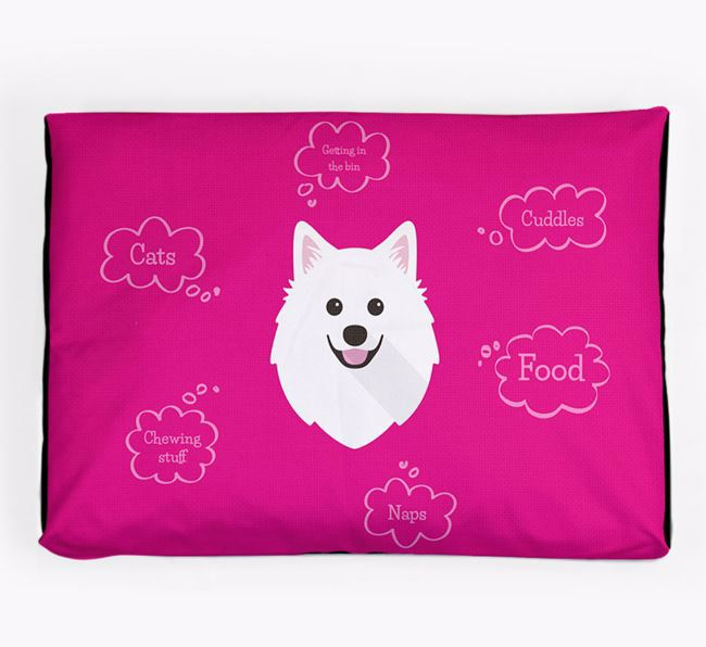Personalised 'Sweet Dreams' Dog Bed for your American Eskimo Dog