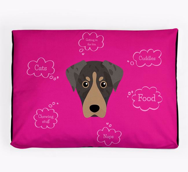 Personalised 'Sweet Dreams' Dog Bed for your American Leopard Hound