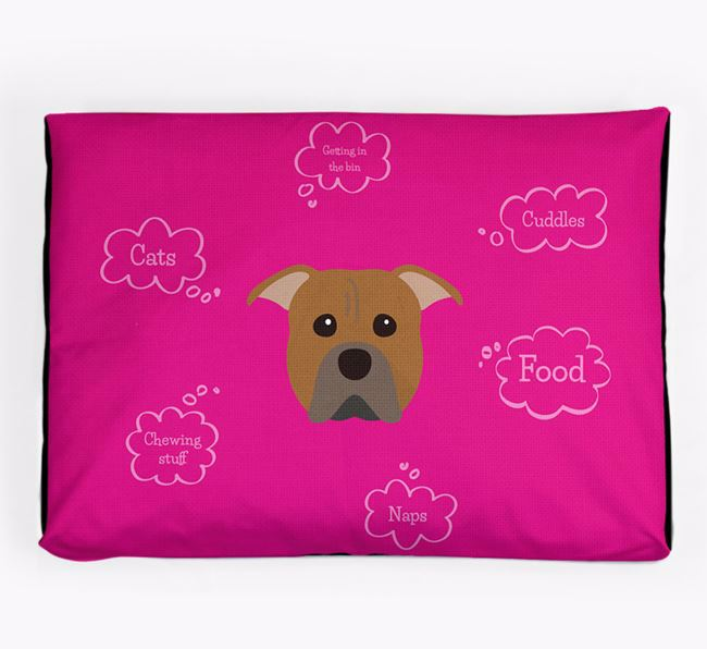 Personalised 'Sweet Dreams' Dog Bed for your American Pit Bull Terrier