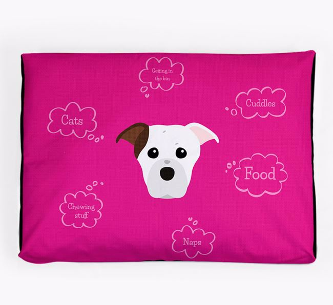 Personalised 'Sweet Dreams' Dog Bed for your American Staffordshire Terrier