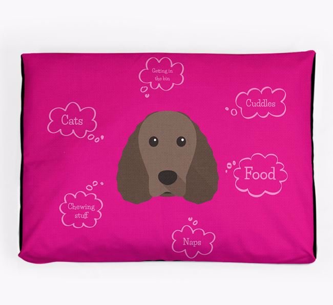 Personalised 'Sweet Dreams' Dog Bed for your American Water Spaniel