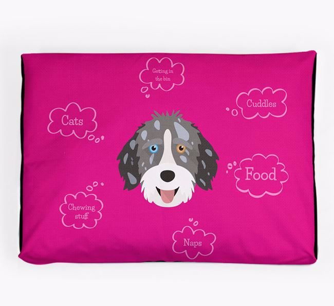 Personalised 'Sweet Dreams' Dog Bed for your Aussiedoodle