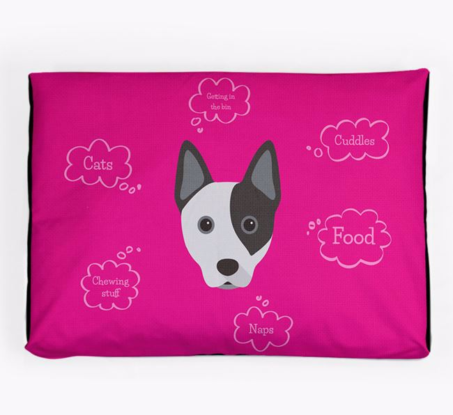 Personalised 'Sweet Dreams' Dog Bed for your Australian Cattle Dog