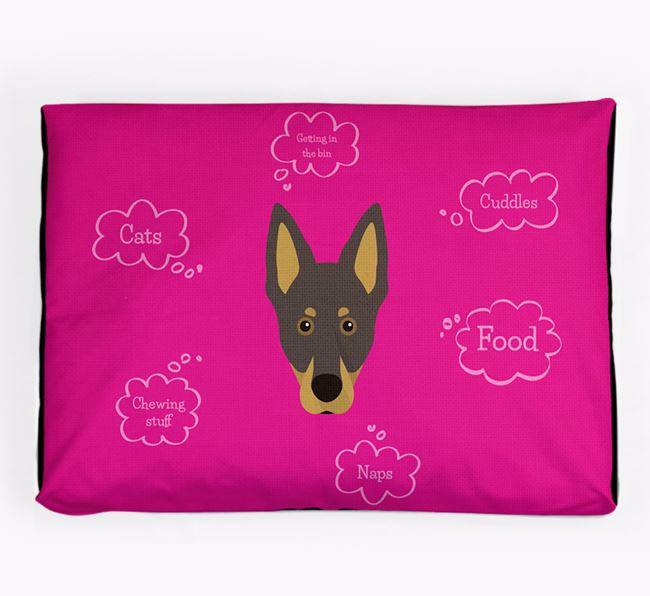Personalised 'Sweet Dreams' Dog Bed for your Australian Kelpie