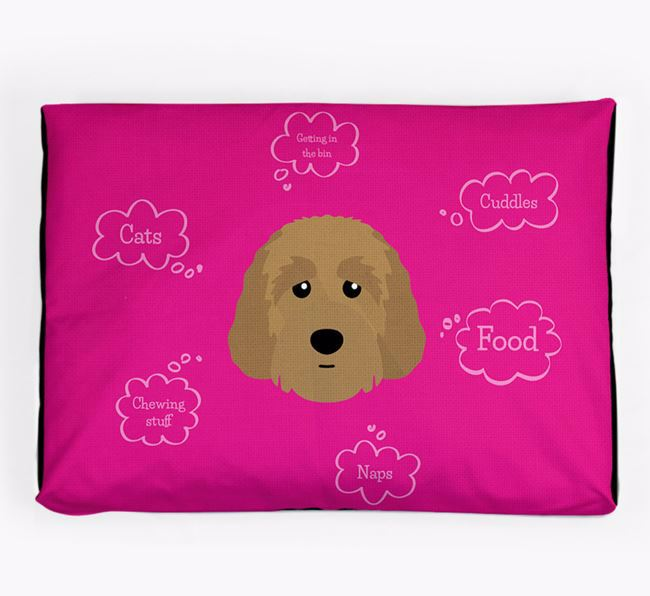Personalised 'Sweet Dreams' Dog Bed for your Australian Labradoodle