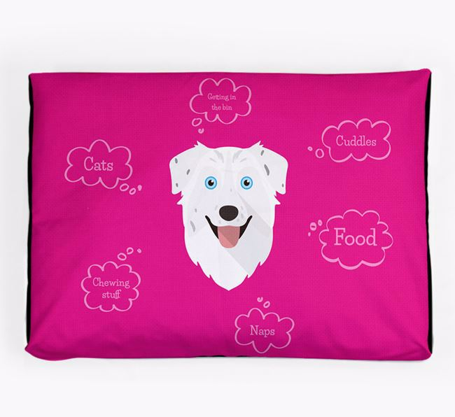 Personalised 'Sweet Dreams' Dog Bed for your Australian Shepherd